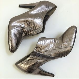 Sam Edelman Metallic Snake skin Booties